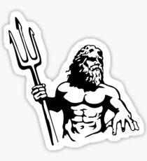 King Neptune Black Sticker