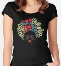 Strange hair Women's Fitted Scoop T-Shirt
