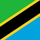 Tanzania Flag Stickers by Mark Podger