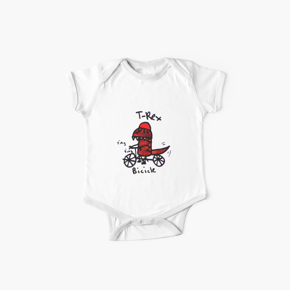 Bicicle T-Rex Baby One-Piece
