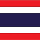Thailand Flag Stickers by Mark Podger