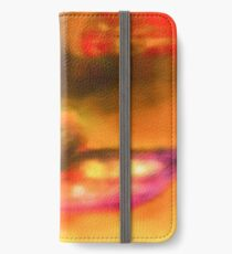 Art Scarf in Yellow, Pink and Purple iPhone Wallet/Case/Skin