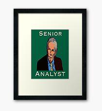 John Giles: Senior Analyst Framed Print