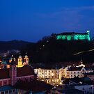 Ljubljana Castle by Ian Middleton