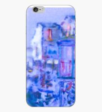 Blue Abstract Whale Art Tote Bag iPhone Case