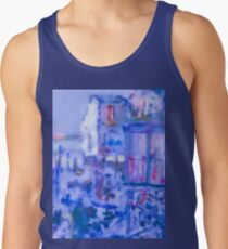 Blue Abstract Whale Art Tote Bag Tank Top