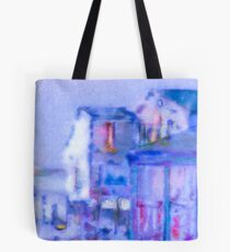 Blue Abstract Whale Art Tote Bag Tote Bag