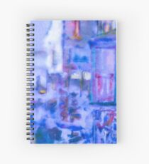 Blue Abstract Whale Art Tote Bag Spiral Notebook
