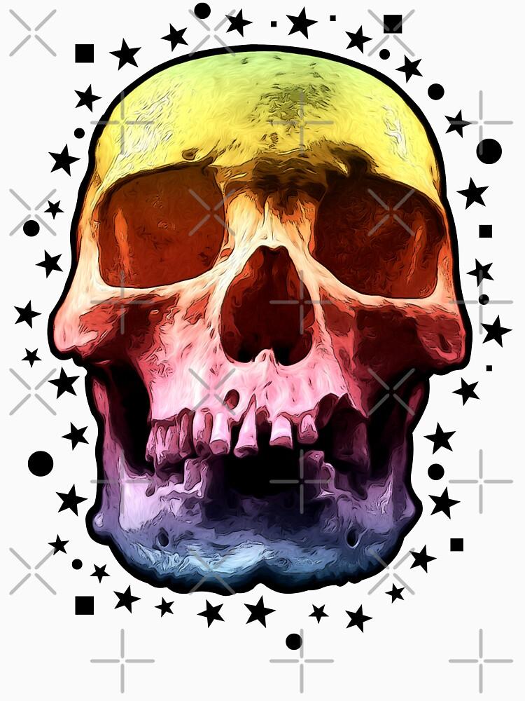 Pop Art Skull Face by perkinsdesigns