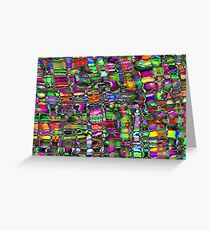 Colour In The Detail - Abstract Multi Coloured Painting Greeting Card