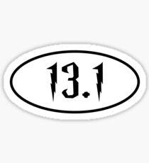 Harry Potter Inspired Half Marathon 13.1 Sticker Sticker