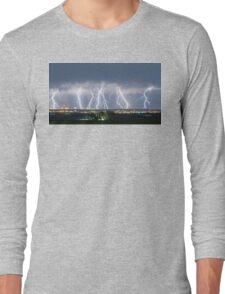 Severe Thunderstorm Panorama Long Sleeve T-Shirt