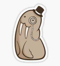 Dignified Walrus Sticker