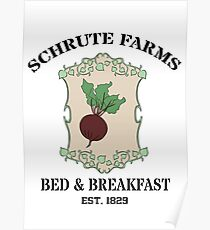 Schrute Farms Bed And Breakfast - Dwight Schrute - The Office Poster