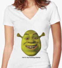 Not In My Swamp - Shrek Women's Fitted V-Neck T-Shirt