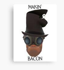 "TF2 Gibus Engineer ""Makin' Bacon"" Canvas Print"