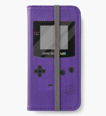 Gameboy Color - Purple iPhone Wallet/Case/Skin