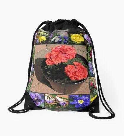 Sonnenschein und Duschen-Blumencollage Turnbeutel