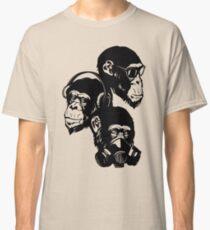 Camiseta clásica Three Monkeys