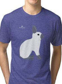 Blue Sable Point Rabbit Tri-blend T-Shirt