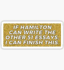 If Hamilton can Sticker