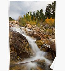 Rocky Mountain National Park Waterfall Poster