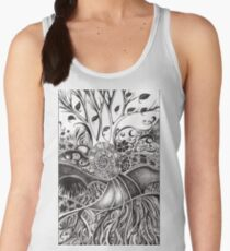 Nucleus, Ink Drawing Women's Tank Top