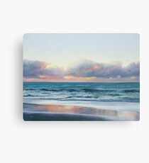 Ocean painting - Days End Canvas Print