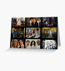 """Psych """"in Character"""" Collage Greeting Card"""