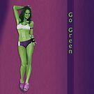Green & Gorgeous Leggings by KC Art