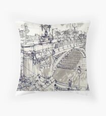 Princess Bridge Study, Melbourne Throw Pillow