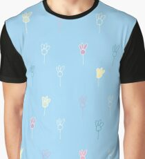 Chamomile on blue Graphic T-Shirt