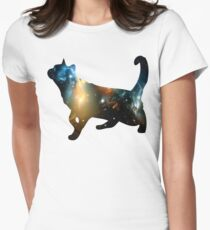 CELESTIAL CAT Womens Fitted T-Shirt