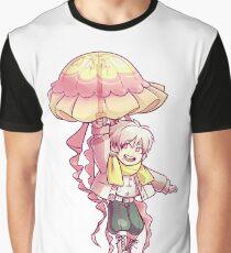 Quallen Regenschirm Grafik T-Shirt