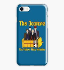 The Yellow Time Machine (Plain Background) iPhone Case/Skin