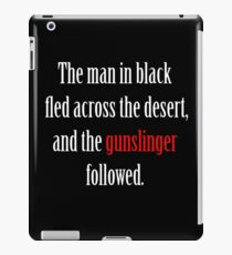 The man in black and the Gunslinger iPad Case/Skin