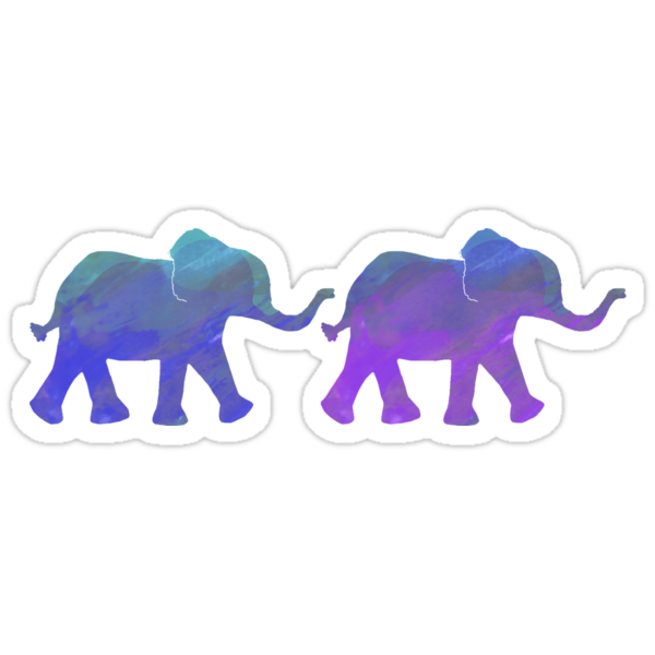 Quot Follow The Leader Painted Elephants In Purple Royal