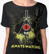 Always Watching Chiffon Top