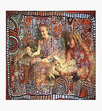 kangourous, tour du monde, aborigene, australie Photographic Print
