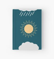 icon set weather contours  Hardcover Journal