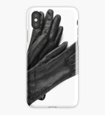 Womens leather black gloves  iPhone Case/Skin