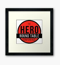 Hero Round Table Framed Print