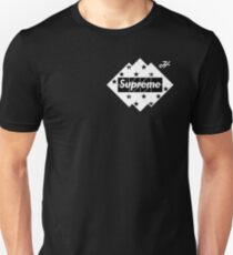 black and white supreme LOGO  Unisex T-Shirt