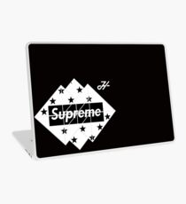 black and white supreme LOGO  Laptop Skin
