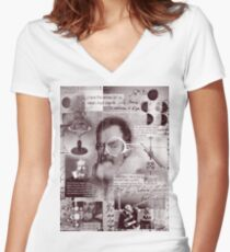 galileo  Women's Fitted V-Neck T-Shirt