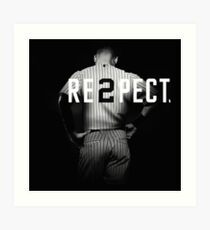 Respect Derek Jeter Re2pect Art Print