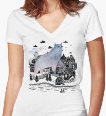 The Fog Women's Fitted V-Neck T-Shirt