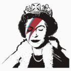 Ziggy Stardust Queen (David Bowie) by streetartfans