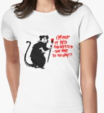 Banksy - Out of Bed Rat Women's Fitted T-Shirt
