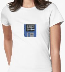Derelict Spaceguy Disc Logo Women's Fitted T-Shirt